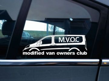 MVOC modified van owners club sticker - for Fiat Scudo 2nd gen LWB van (v3)